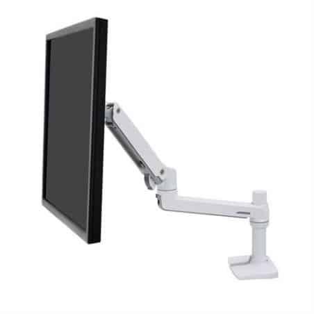 Bras LX mono-écran, fixation bureau (blanc) 45-490-216