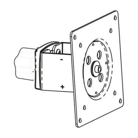 Pivot d'écran coulissant pour barre transversale DS100
