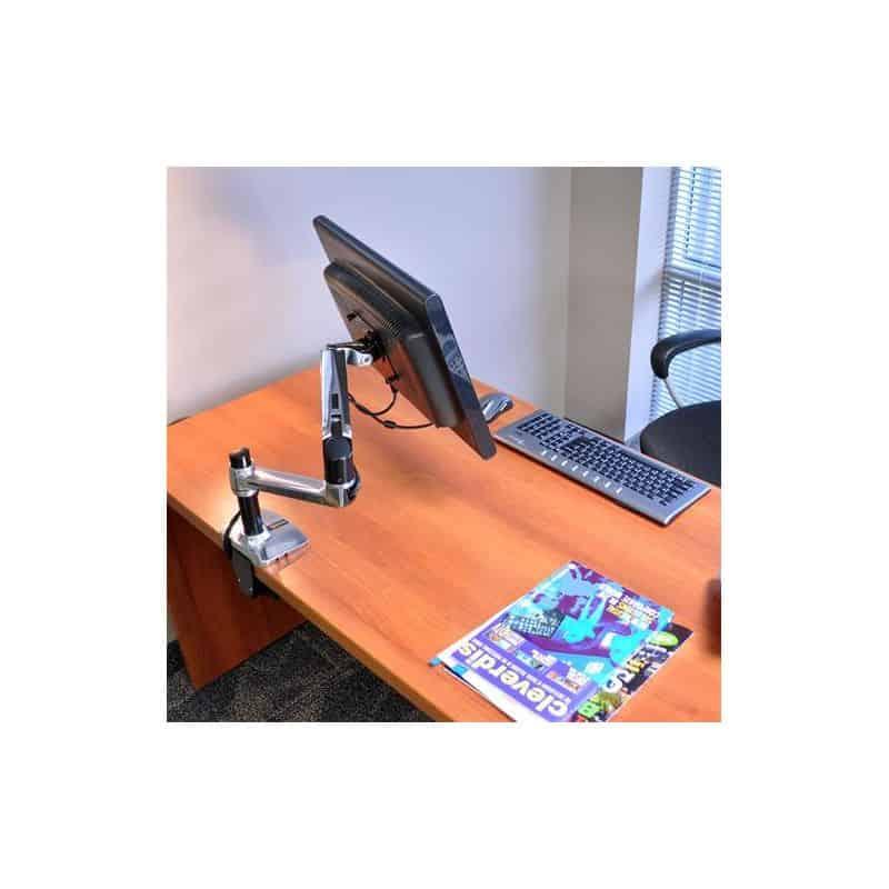 Bras LX mono-écran, fixation bureau, colonne haute (aluminum) 45-295-026