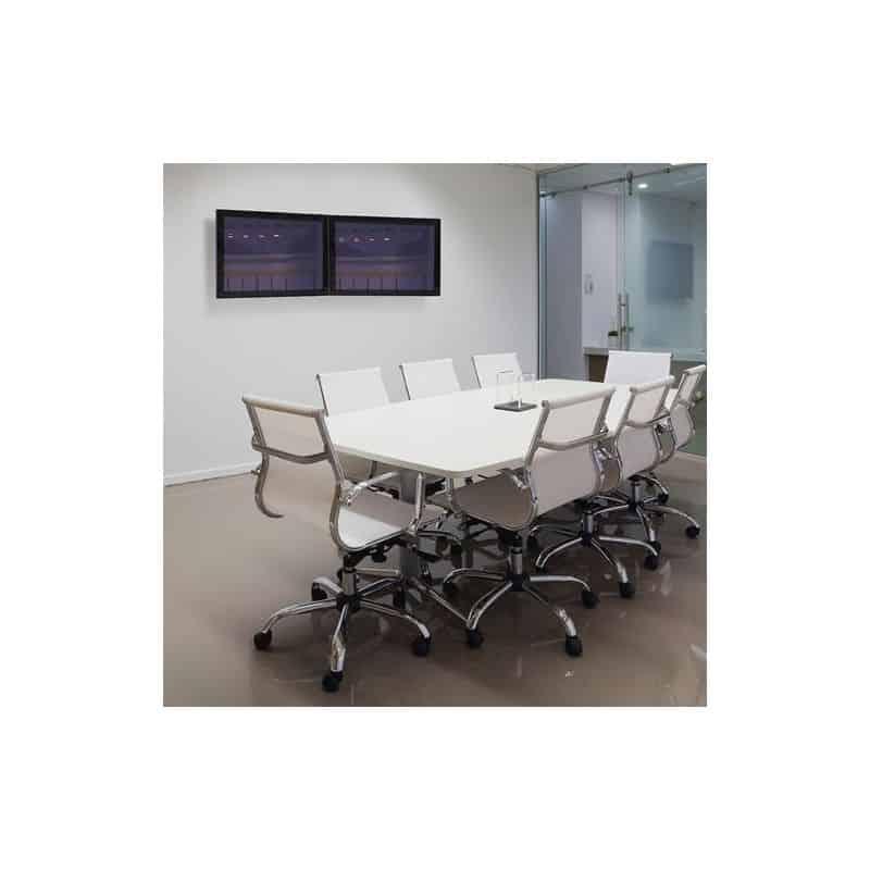 Bras HX bi-écrans, fixation murale (blanc) 45-479-216