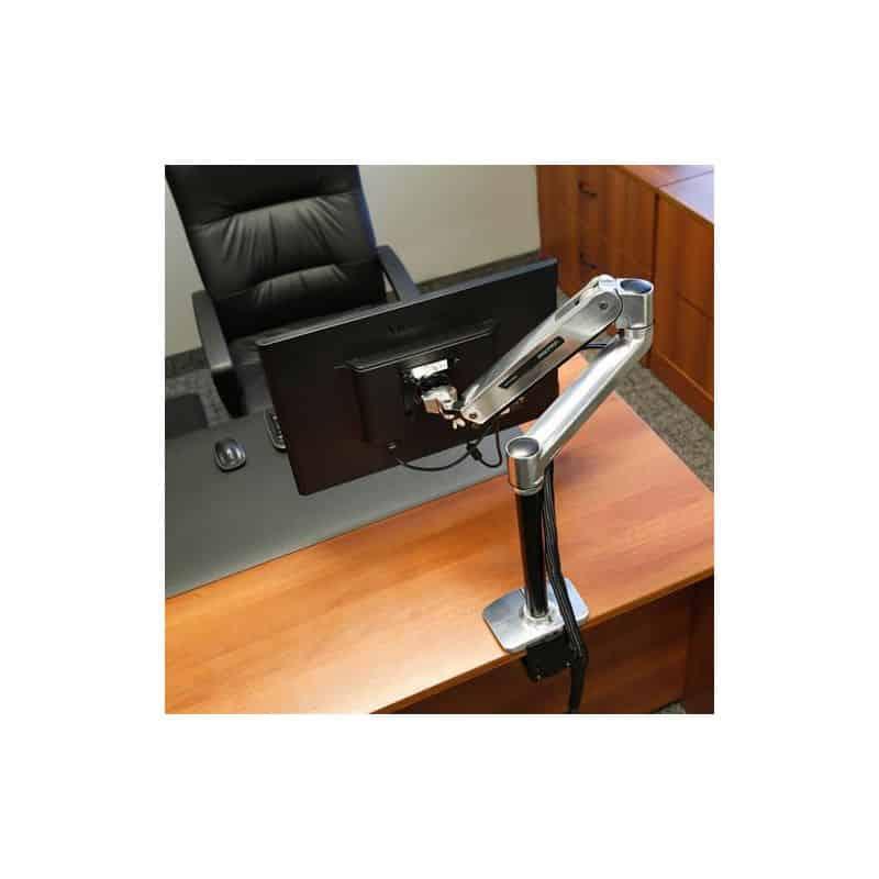 Bras LX assis-debout mono-écran, fixation bureau 45-360-026