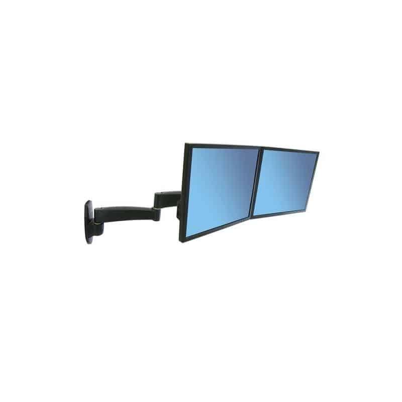 Bras Série 200 bi-écrans, fixation murale (noir) 45-231-200