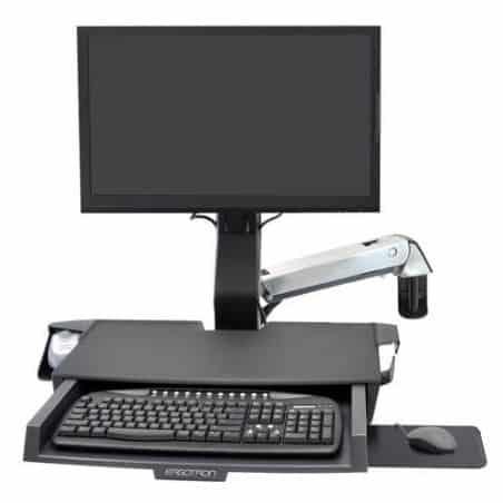 Bras StyleView® Combo assis-debout avec plan de travail (aluminum) 45-260-026