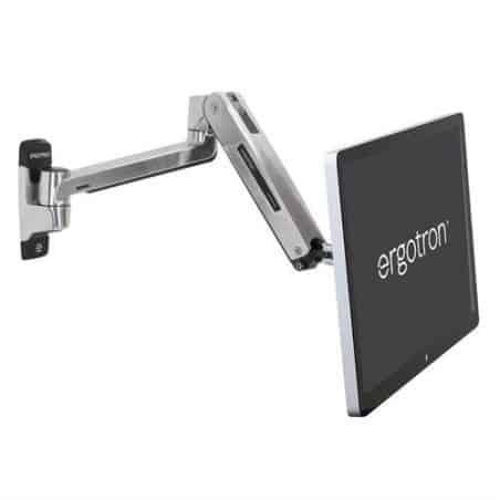 Bras LX assis-debout mono-écran HD, fixation murale (aluminium) 45-383-026