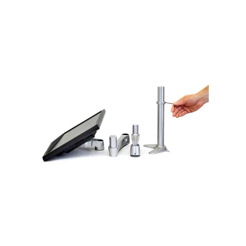 Bras télescopique Neo-Flex® mono-écran, fixation bureau (Argent) 45-235-194