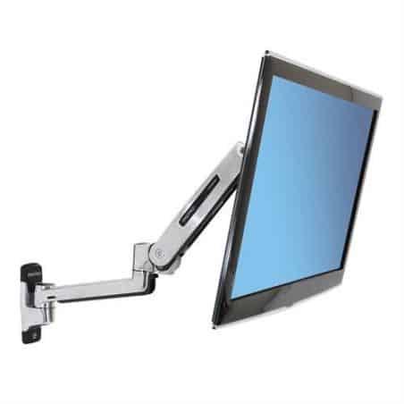 Bras LX assis-debout mono-écran, fixation murale (aluminium) 45-353-026