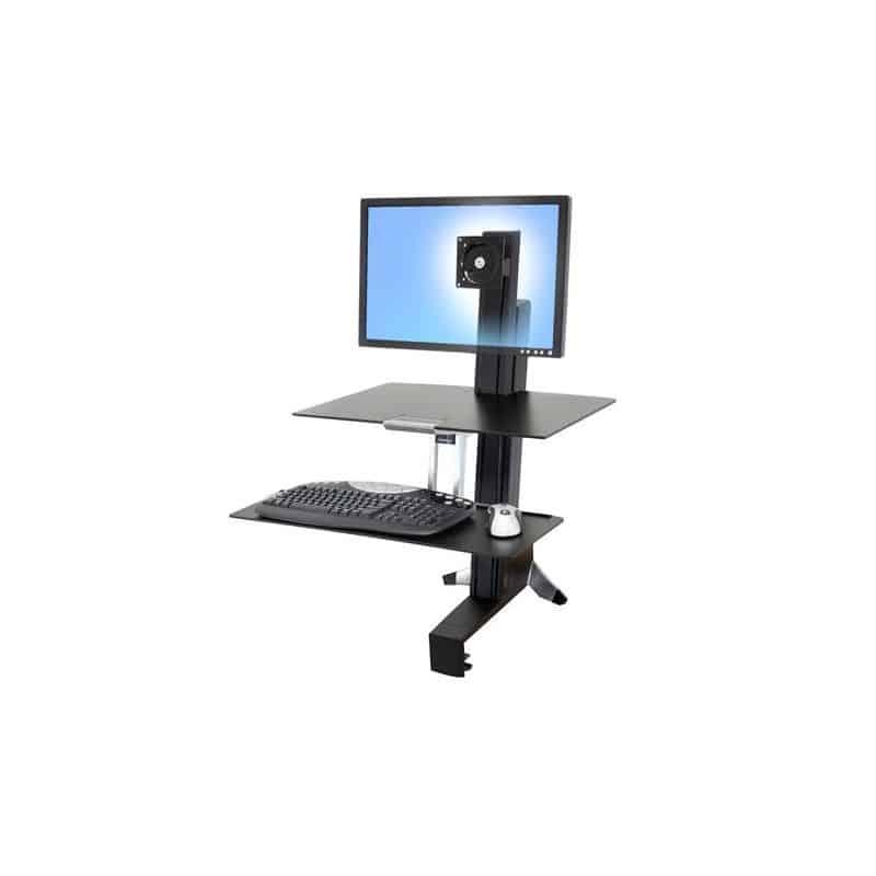 WorkFit-S, Poste mono-écran HD avec plan de travail (noir) 33-351-200