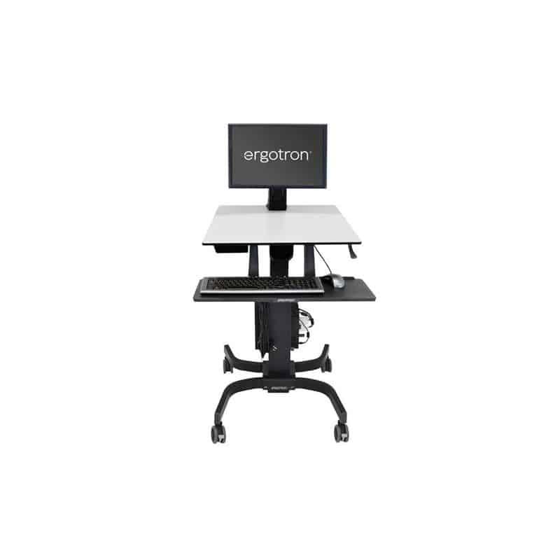 WorkFit-C, Poste mobile assis-debout mono-écran LD 24-215-085
