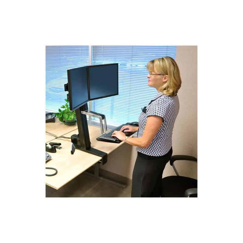 WorkFit-S, Poste bi-écrans 33-341-200