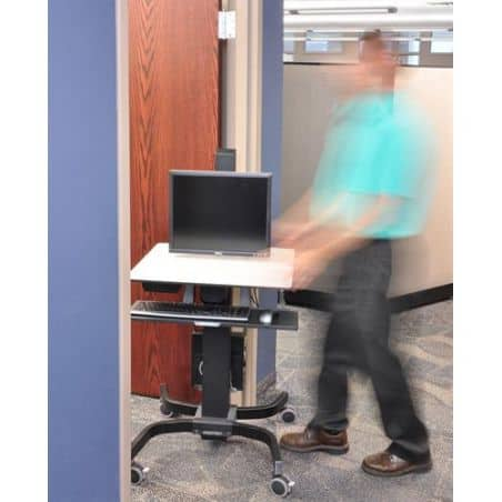 WorkFit-C, Poste mobile assis-debout mono-écran HD 24-216-085