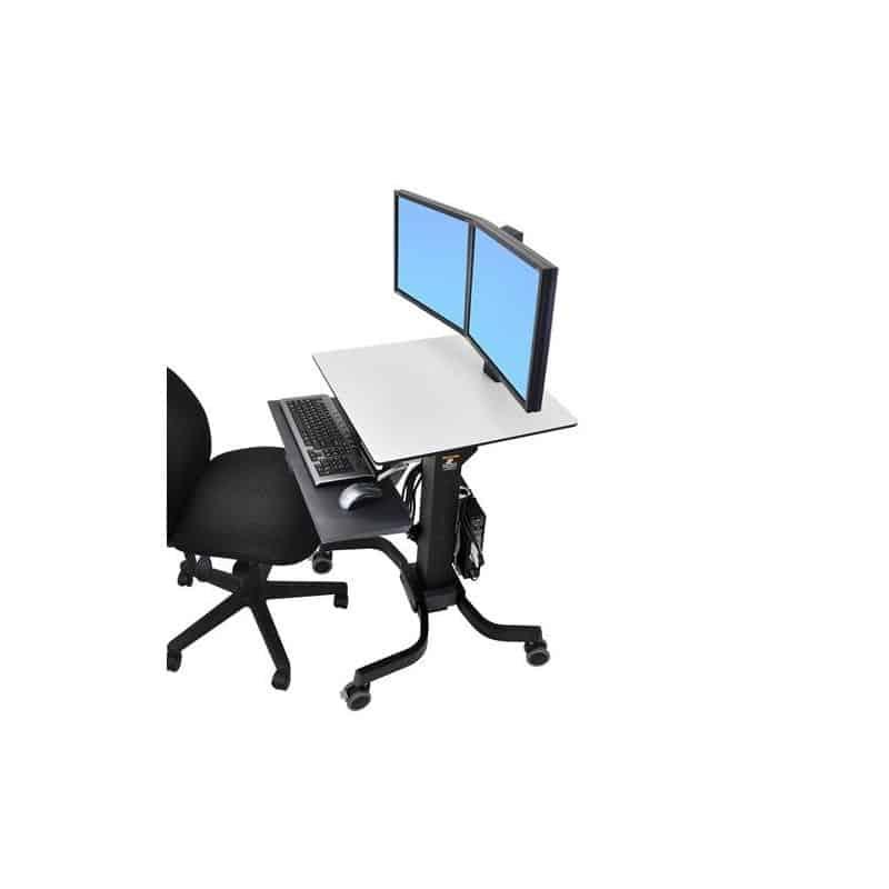 WorkFit-C, Poste mobile assis-debout bi-écrans 24-214-085