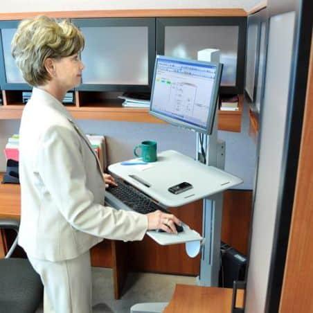 WorkFit-C, Poste mobile assis-debout mono-écran LD 24-198-055