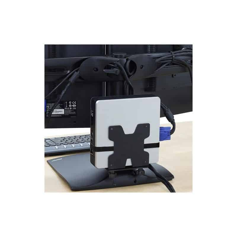 Stand DS100 bi-écrans juxtaposés (noir) 33-322-200